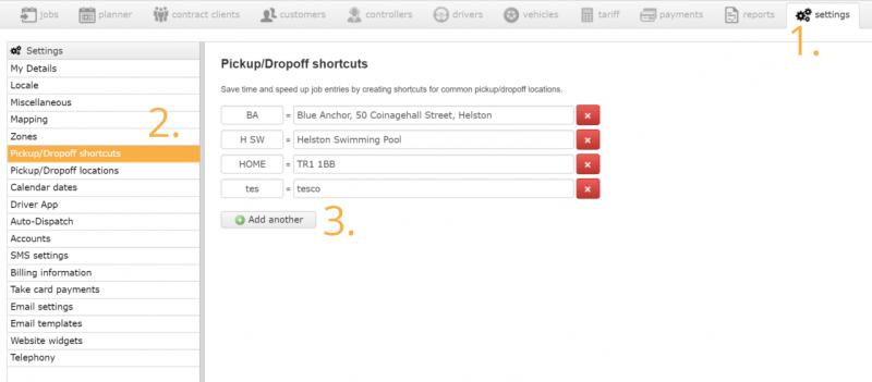 Adding Shortcuts to Taxi Hub